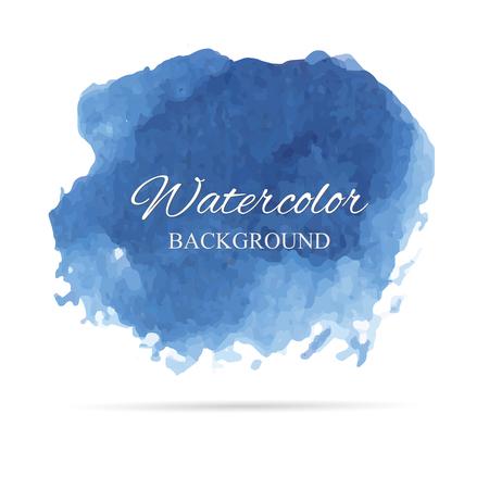Beautiful abstract watercolor art hand paint vector