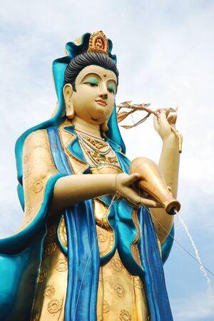 quan yin: Quan Yin (The goddess of mercy) at Quan Yin Avalokiteshvarabodhisatava park, Samut Sakorn province, Thailand Stock Photo