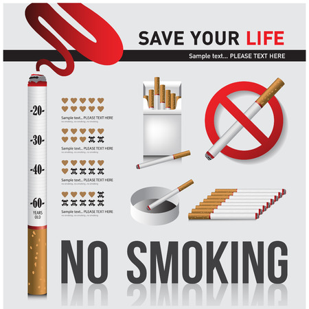ashtray: no smoking The media campaign is not to smoke .