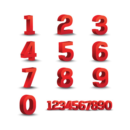for advertising: Number design. for Advertising