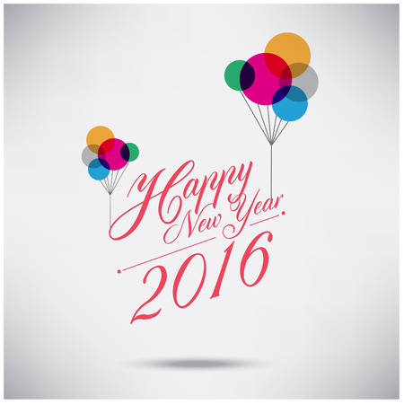 happy newyear: Happy Newyear 2016 Illustration