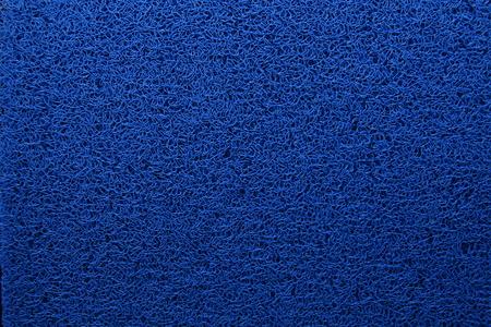 floor mat: blue pvc floor mat Stock Photo