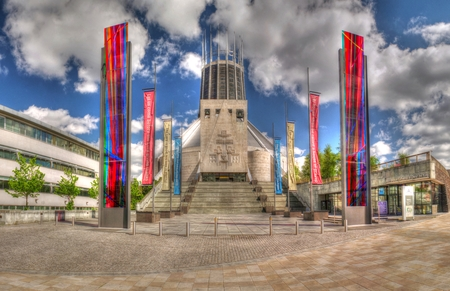 HDR photo of Metropolitan Cathedral of Christ The King Liverpool
