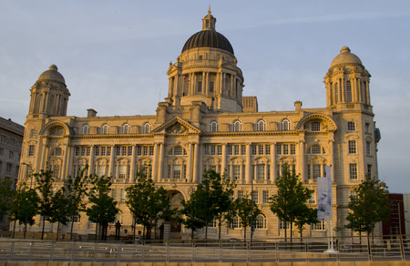 Liverpool, UK - May 27, 2014  Historic Port of Liverpool building on 27th May 2014