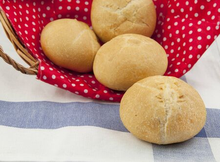 bakery products: Bakery products with wicker basket