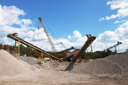 gravel crushing and screening plant Stock Photo