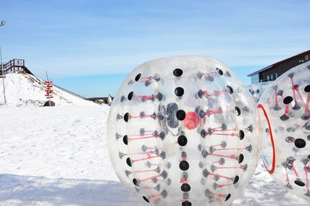 Zorb attraction in winter