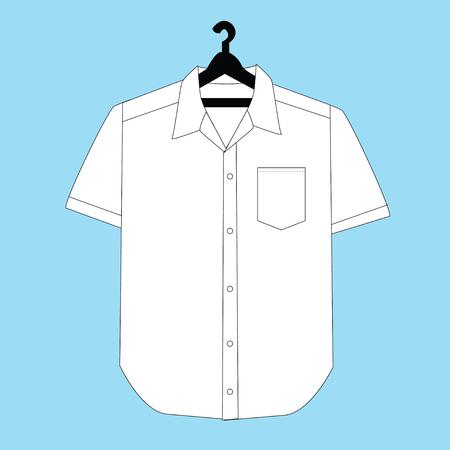 camicia bianca: Camicia bianca in bianco