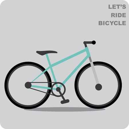 bicicleta vector: Montaña del vector en bicicleta