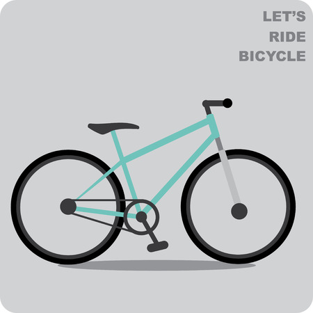 bicycle frame: Mountain bike vector Illustration