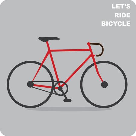 bicicleta vector: Camino vector bicicleta