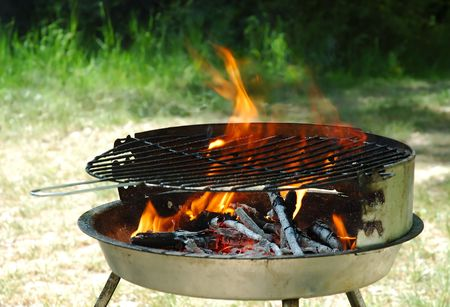 Hot kettle grill ready to barbecue Stock Photo