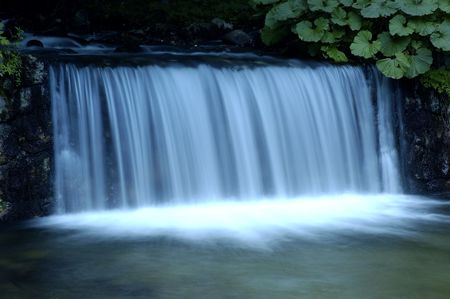Small waterfall in blue