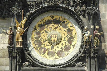 clocktower: Astronimic clock in  Praha, Czech Republic