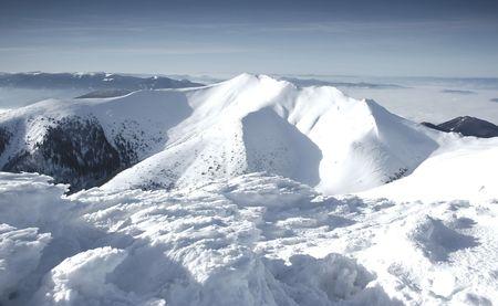 Mala Fatra mountains panorama in winter Stock Photo - 1140354