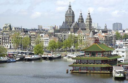 Chinese restaurant in Amsterdam, Holland
