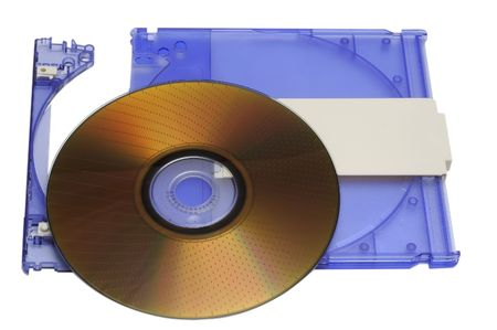dvdr: DVD-RAM with box isolated on a white background
