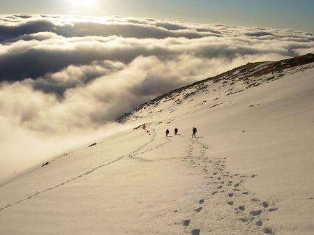 Group of climbers on a route in High Tatras Stock Photo - 1228442