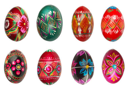 Easter eggs with different colors isolated on white background Stock Photo - 1228806
