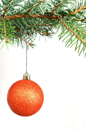 twing: Christmas decorations opposite white background