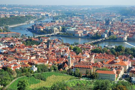 panoramatic: Panoramatic view of the Prague, Czech republic