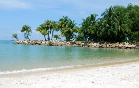 Tropical beach in sentosa, Singapore