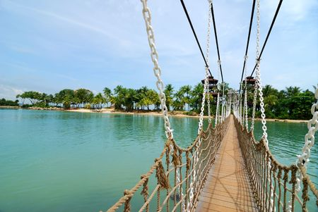 Suspension Bridge in Sentosa, Singapore