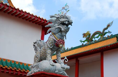 Asian temple dragon in Singapore photo
