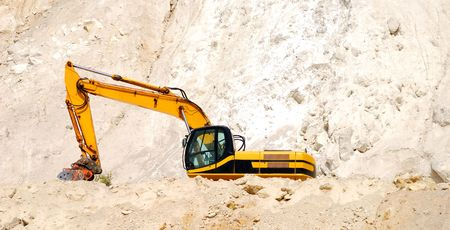 Excavator on a working platform Stock Photo - 3595535