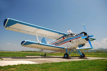 aerobatics:  Historical airplane Antonov An-2 from Russia