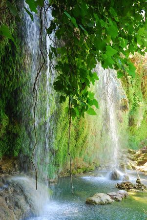 Exotic waterfall and river in Turkey
