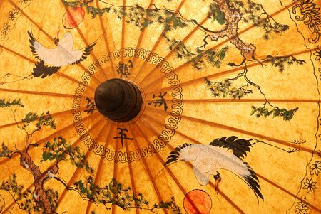 Detail of sunshade with Thai ornament