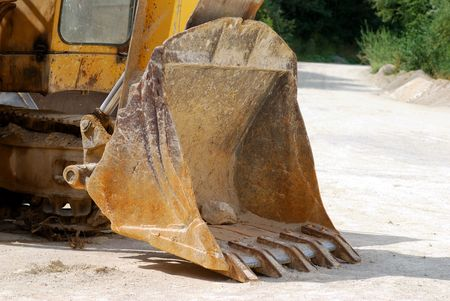 Side view on excavator shovel Stock Photo - 3990989