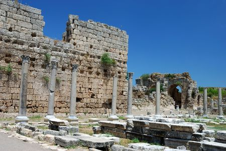 Greek and Roman Ruins at Perge, Turkey Stock Photo - 4170516
