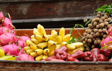 Exotic fruits for sale on floating market  photo