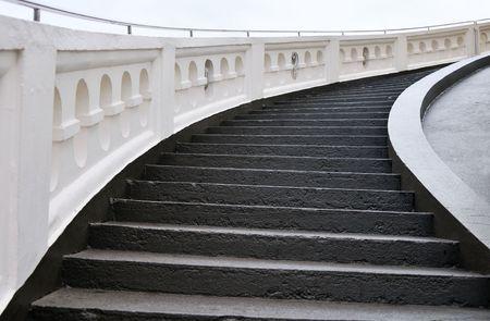 Concrete stairway to the heaven Stock Photo