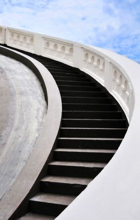 Concrete stairway to the heaven  photo