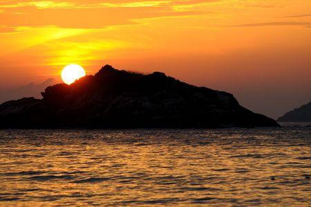 Sunrise on Palau Redang, Malaysia Stock Photo - 6293635