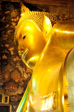 Statue of golden buddha in Bangkok grand palace  photo