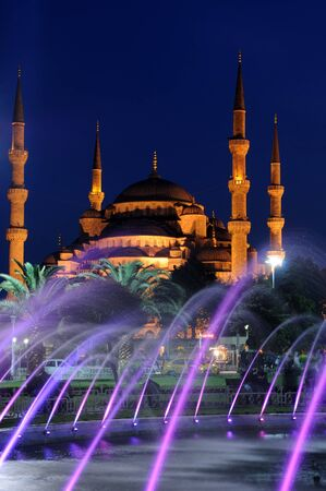 Blue mosque and fountain, Istambul