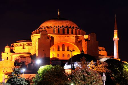 Hagia Sophia of Istanbul at Night Stock Photo - 8354324