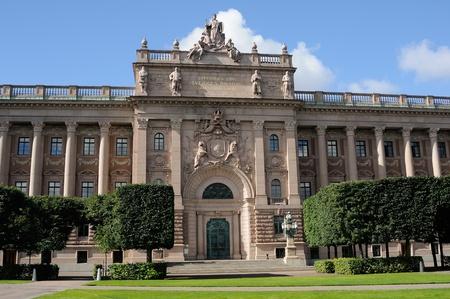 Stockholm, Sweden. parliament building photo