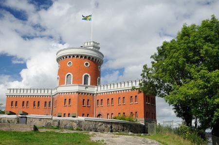 Stockholm, Su�de. Ch�teau de briques sur le �le de Kastellholmen Banque d'images - 8354338
