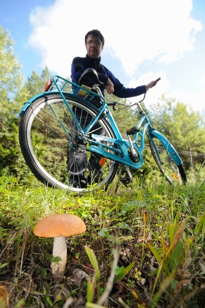 Biker have found a mushroom photo