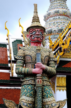 Photograph of A Statue of Guardian in grand palace in Bangkok, Thailand