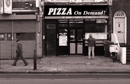 b n: London, pizza on demand