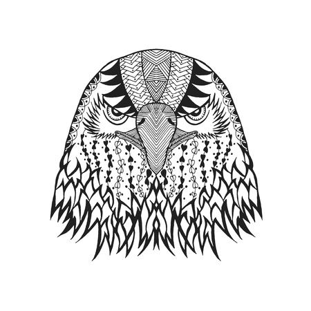 stylized eagle head.  Illustration