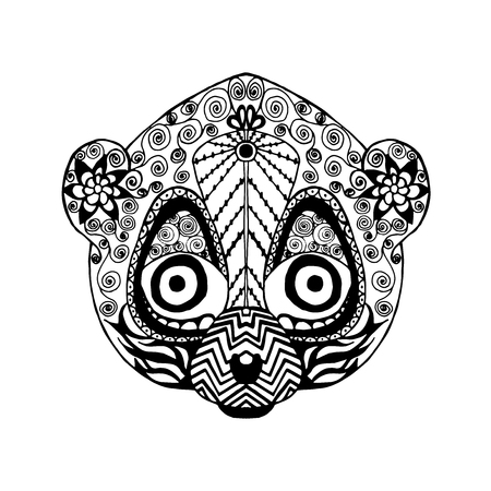 tatoo: stylized lemur. Illustration