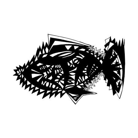 tatoo: stylized fish.