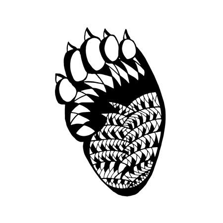 tatoo: stylized bear paw.